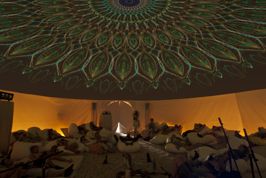 Burning-man Projection Dome Theaters by Pacific Domes