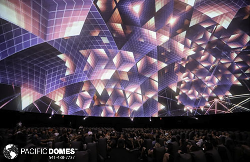corporate projection dome event structure, pacific domes