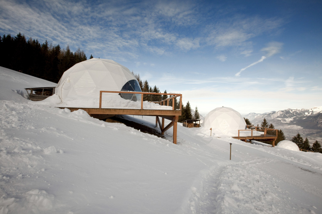 Whitepod geodesic dome shelters for eco resorts