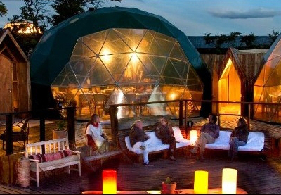 Resort Shelter Dome by Pacfic Domes for EcoCamp Patagonia