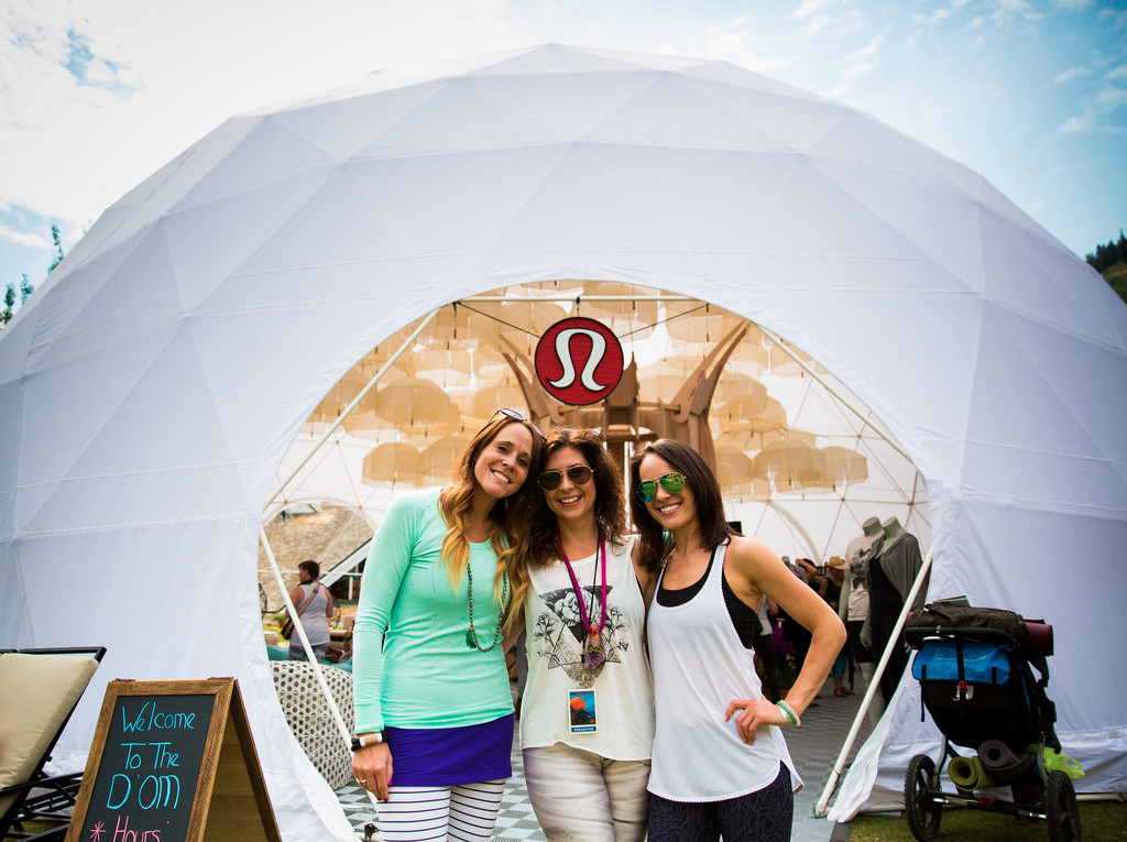 Geodesic Event Tent for Wanderlust by pacific domes of Oregon