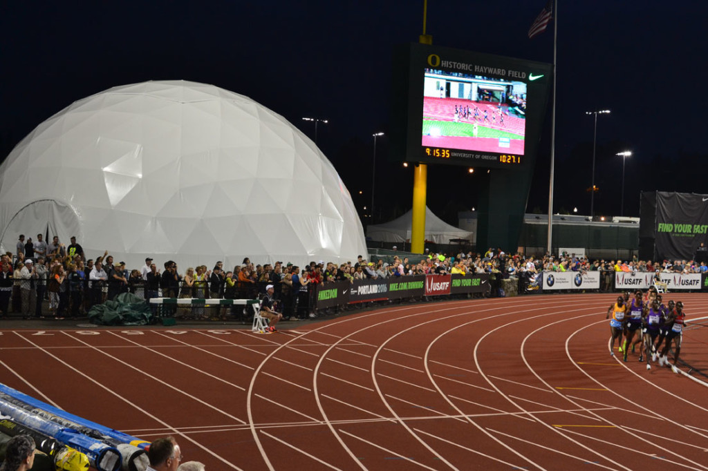 Pacific Domes at Track and Field Event - Dome Event Tent for Nike