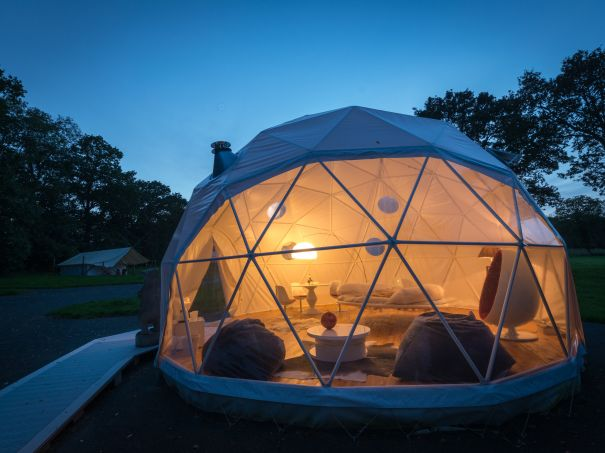 Geodesic dome houses for luxury glamping resorts retreats - The geodesic dome in connecticut call of earth ...