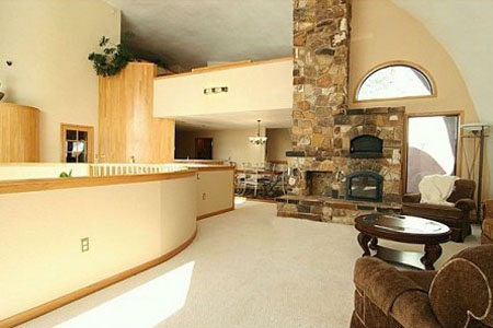 Interior Of Dome Home In Conifer, CO.Photo: Zillow