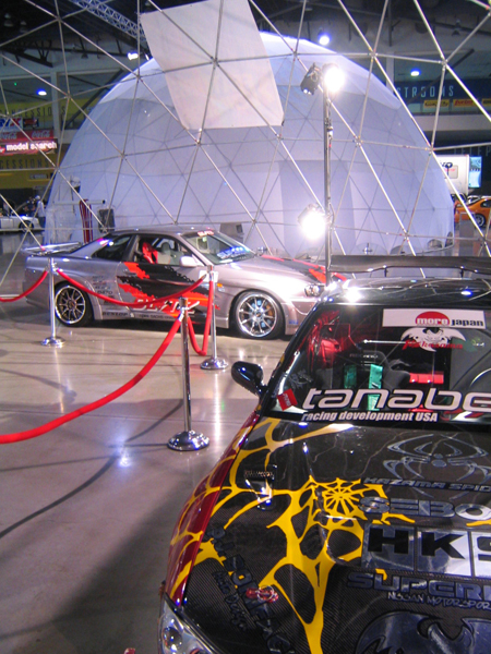 Trade Show Dome at Car Show, Dome showcase, Event dome rental,