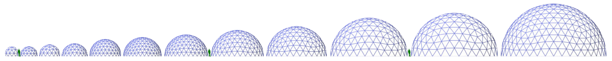 Pacific Dome Sizes