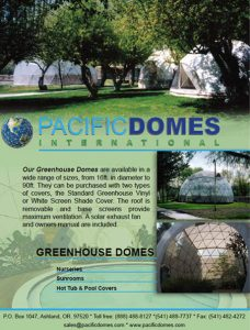 Pacific Domes - Greenhouse Domes Brochure