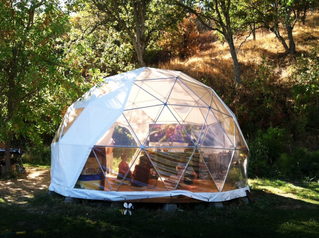 Dome Shelters by Pacific Domes of Oregon gl&ing tents for sale & Geodesic Domes and Zomes Shelters in Harmonic Architectur