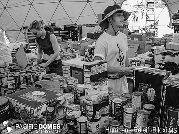 Food Drive-Biloxi, Mississippi, Hurricane Relief-Pacific Domes