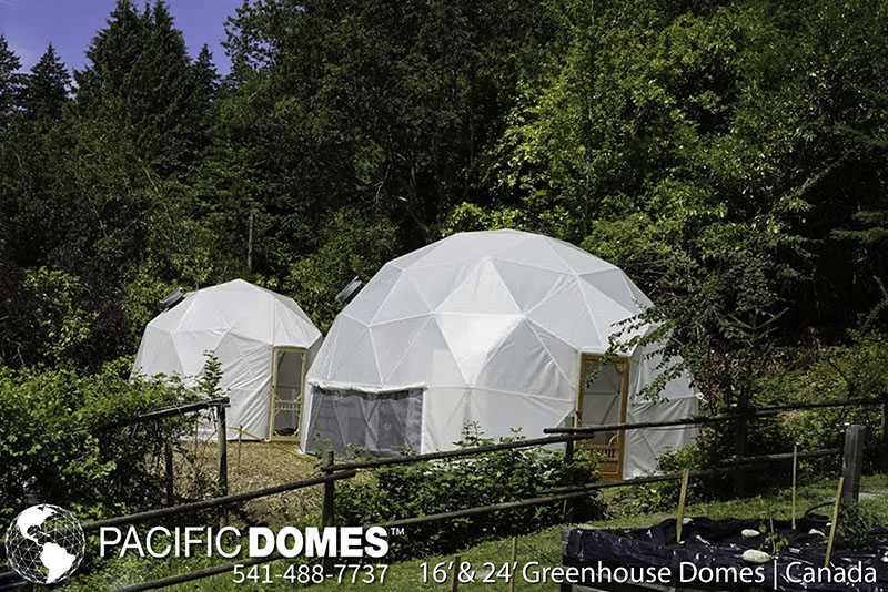24' & 16' greenhouse domes-pacific domes