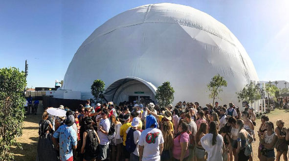 projection dome theater, 360 VR domes