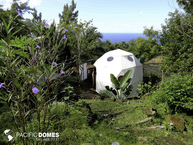 geodesic, Réunion Island's Bubble Dome Village