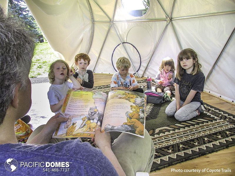 nature smart education dome, pacific domes, learning domes