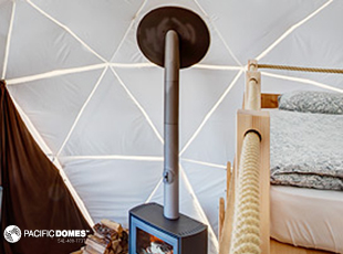 Wood Stove in a Dome