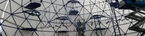Urban Placemaking: A Kids Playground Climbing Gym & Ropes Course Dome
