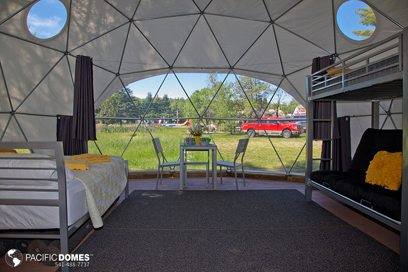 dome glaming Bangor Holden KOA Maine