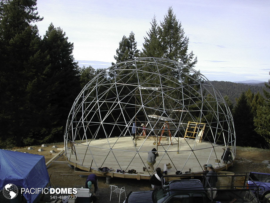 build your own geodesic dome house