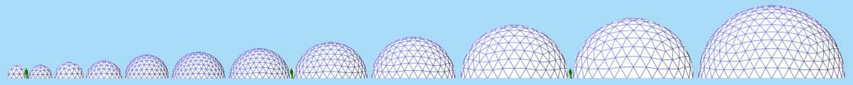 Pacific Domes - Dome Sizes
