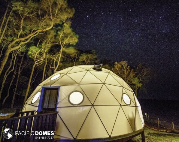 what is glamping, dome glamping