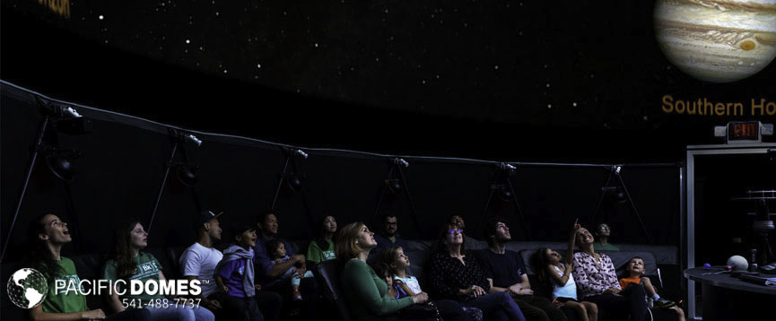 mobile planetarium, full dome projections