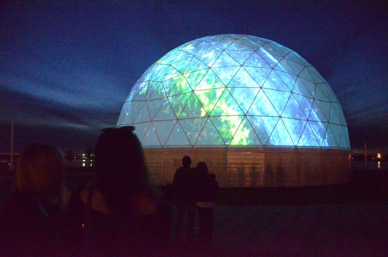 immersive projection exhibition, 360 film projection dome
