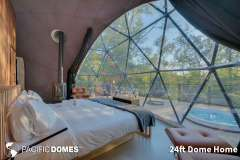 24ft Dome Home Interior - Mont Tremblant