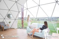 30ft Dome Home Interior - Mile End Glamping