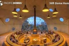 36ft Dome Home Interior