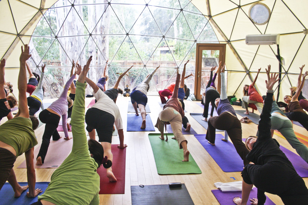 Yoga Dome - Festival Tent with Bay Window