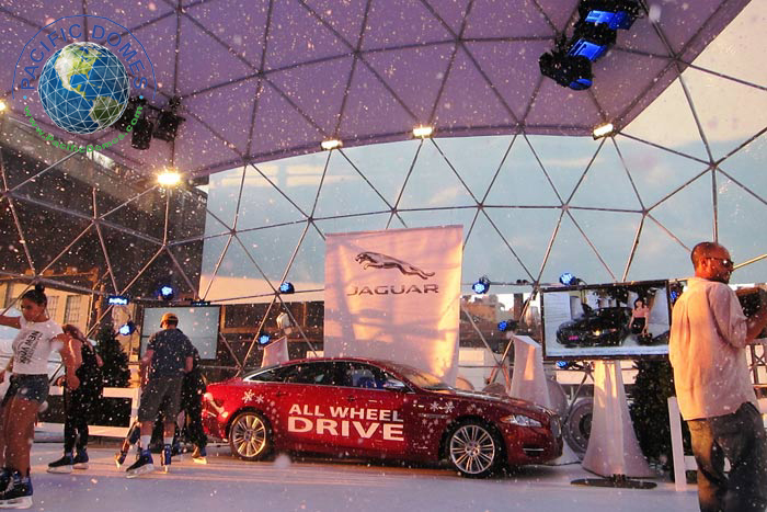 Snow Globe for Jaguar Motors - Event Domes by Pacific Domes or Oregon