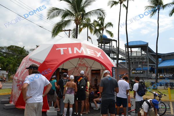 Printed Event Tent for Corporate Event Marketing - Timex iron man 3