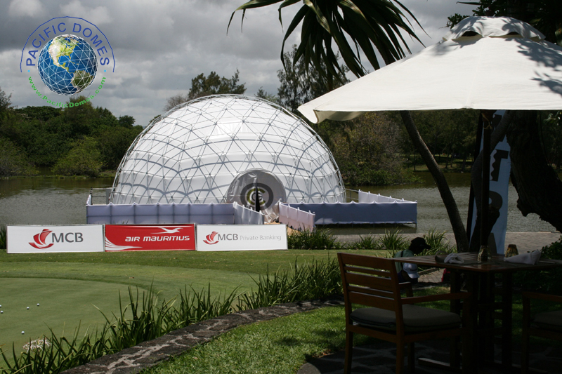 golf simulator dome by Pacific Domes, event tents for sale, event tent prices