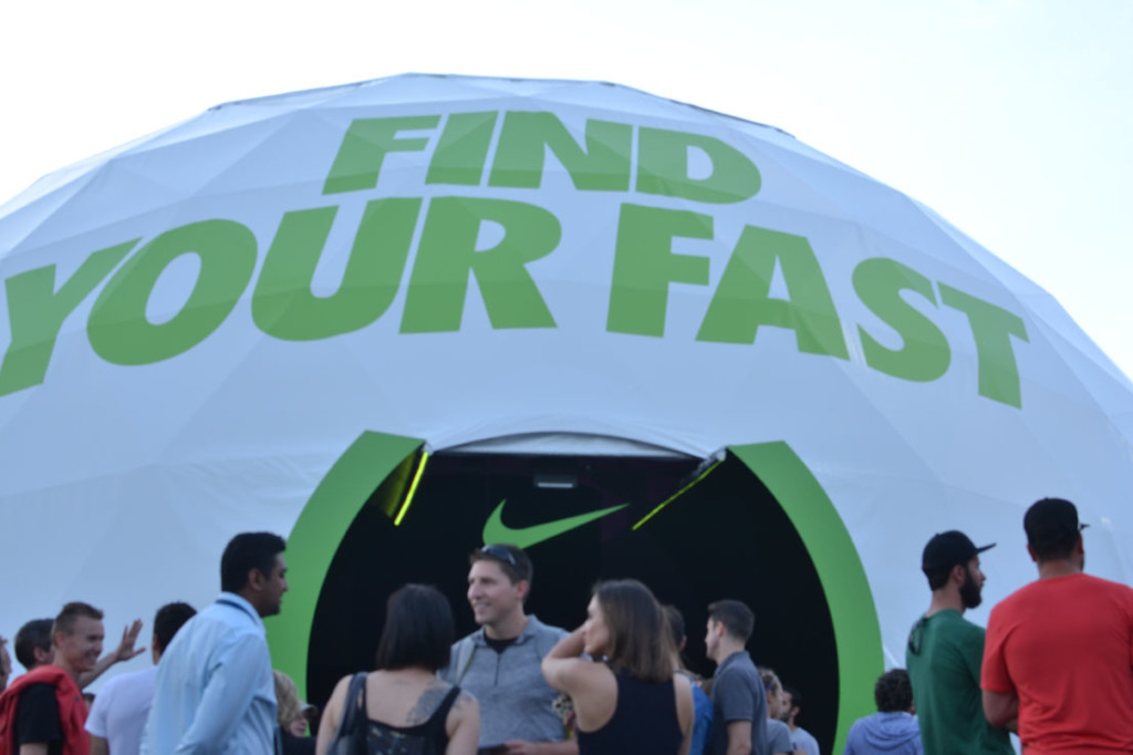 Corporate Event Tent for Nike - Event Marketing Tents for Sale - Pacific Domes