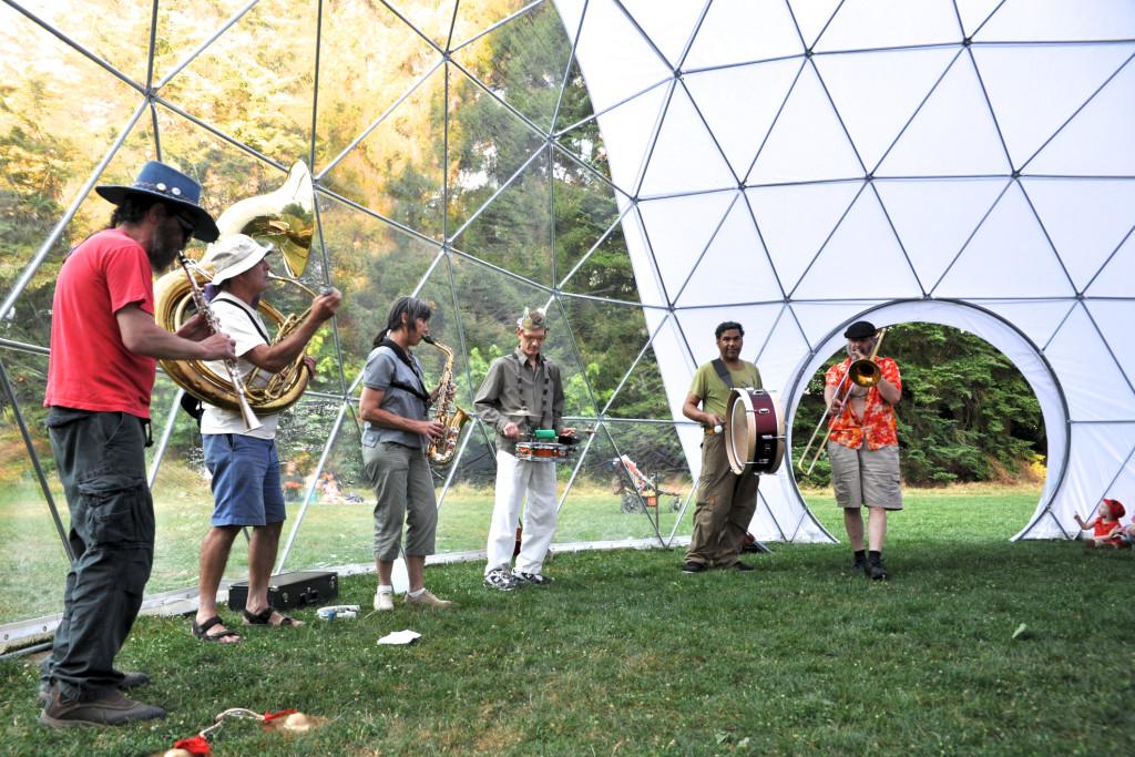 Pacific Domes Festival Tent - Arts in Nature Festivals