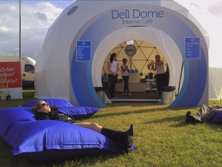 Geodesic Event Tents for Trade Show Marketing - Dell