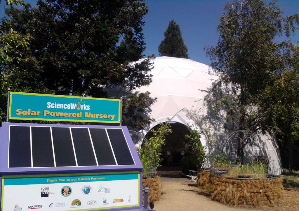 Science-Works Greenhouse Dome, outdoor classroom