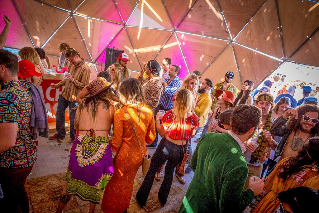 Mustache Bash Party Tent - Pacific Domes