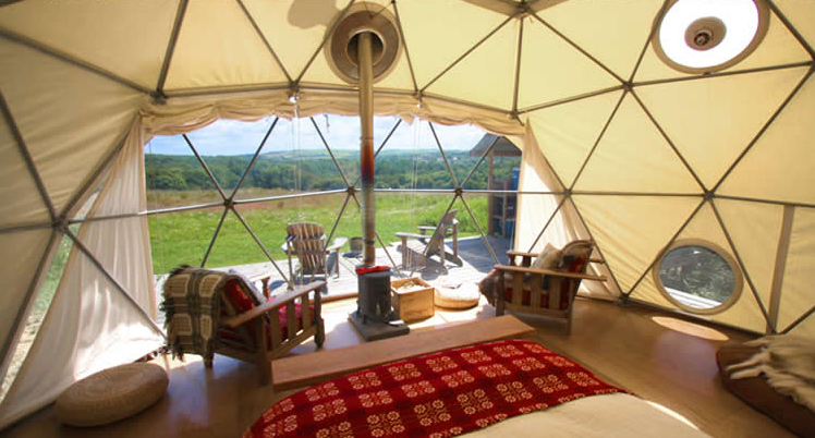 Glamping Resort Accommodations - Geodesic Dome Homes