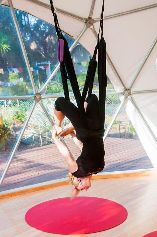 Jen's Yoga Swing-Pacific Domes - Yoga Studio Domes by Pacific Domes