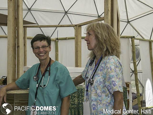 Medical Center-Haiti-Pacific Domes, medical tents, medical tent, medical service tents, portable medical dome tents, portable first-aid tents