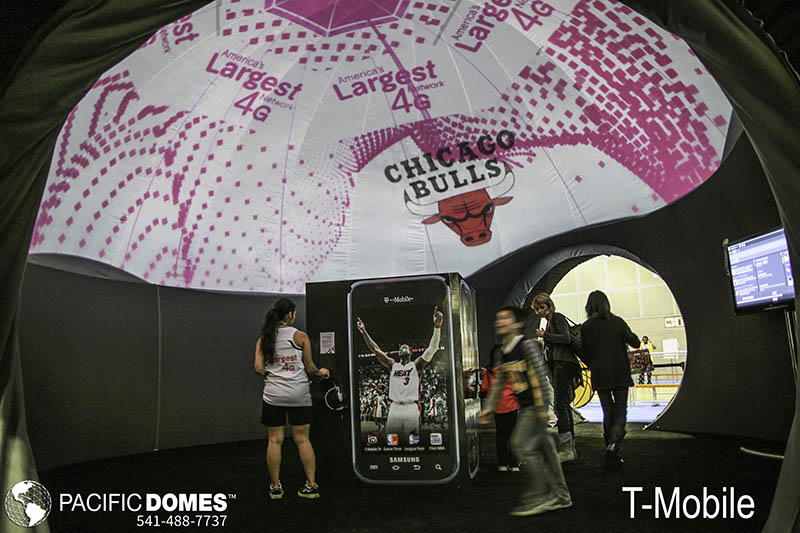 T-Mobile-Pacific Domes , experiential marketing