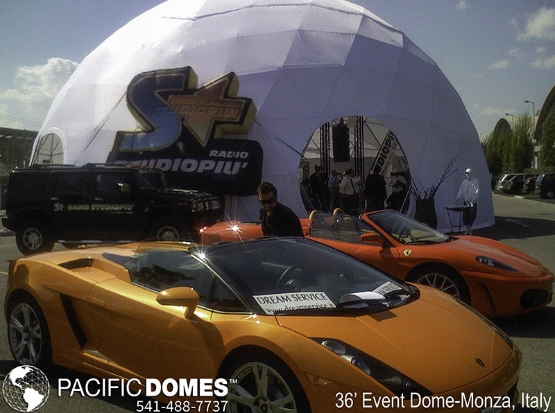 outdoor event tents, motor sports racing events, dome structures, large event tents, event tents, eco-domes