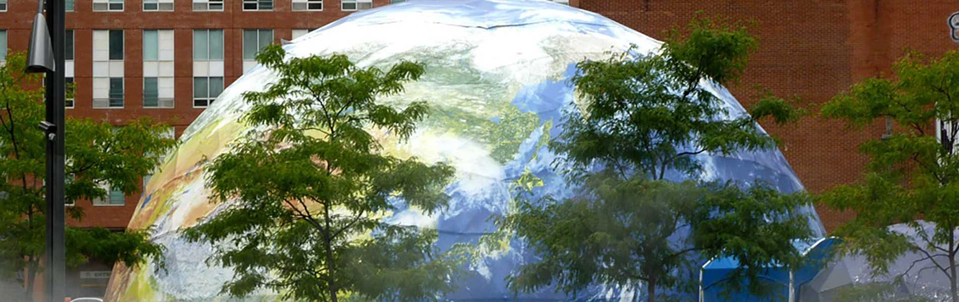 70ft Printed Earth Dome