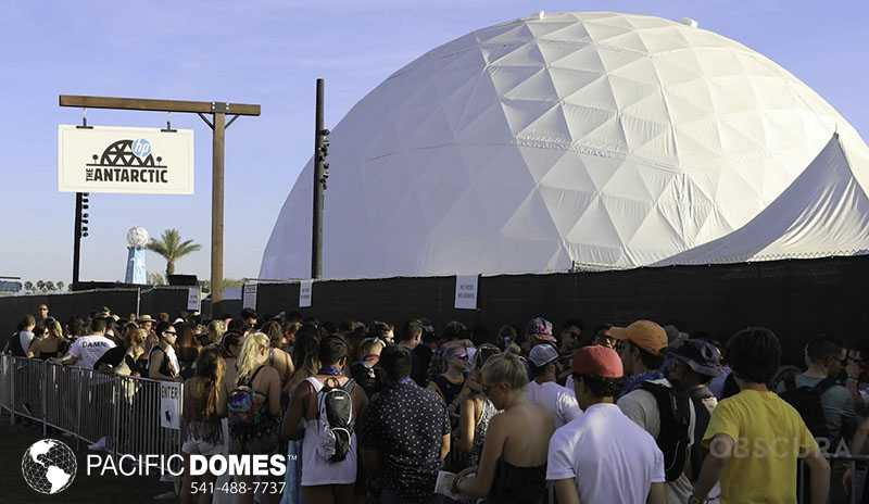 120ft Coachella Dome Entrance