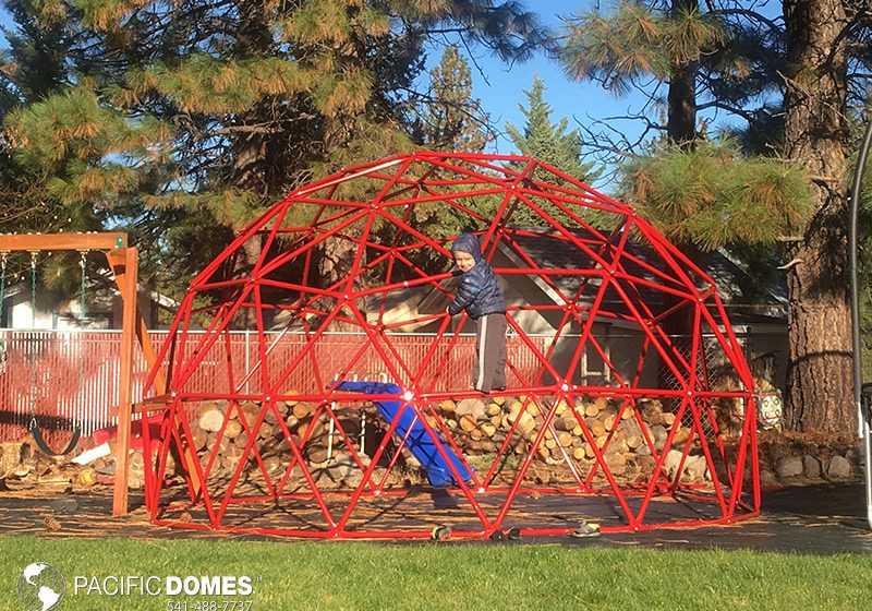 red climbing dome