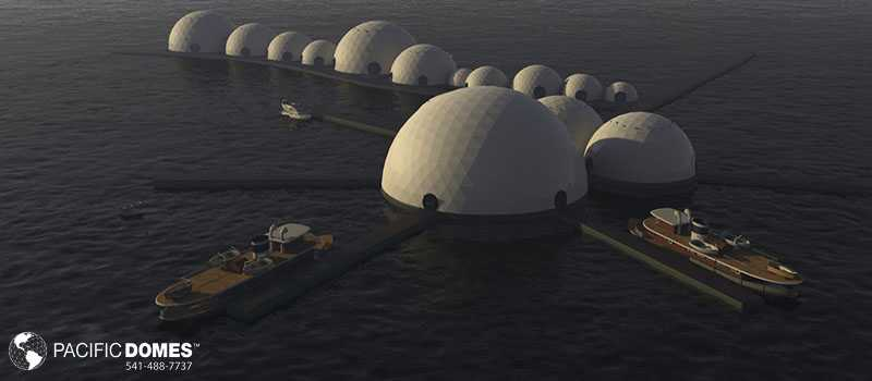 cities of geodesic domes, cities of domes