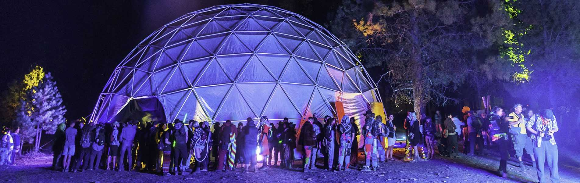 festival glamping domes