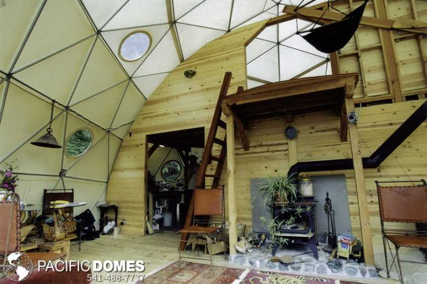 30' dome home with loft