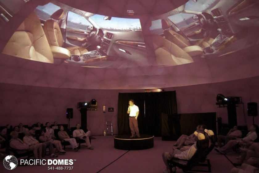 Audi Obscura Projection Dome Interior