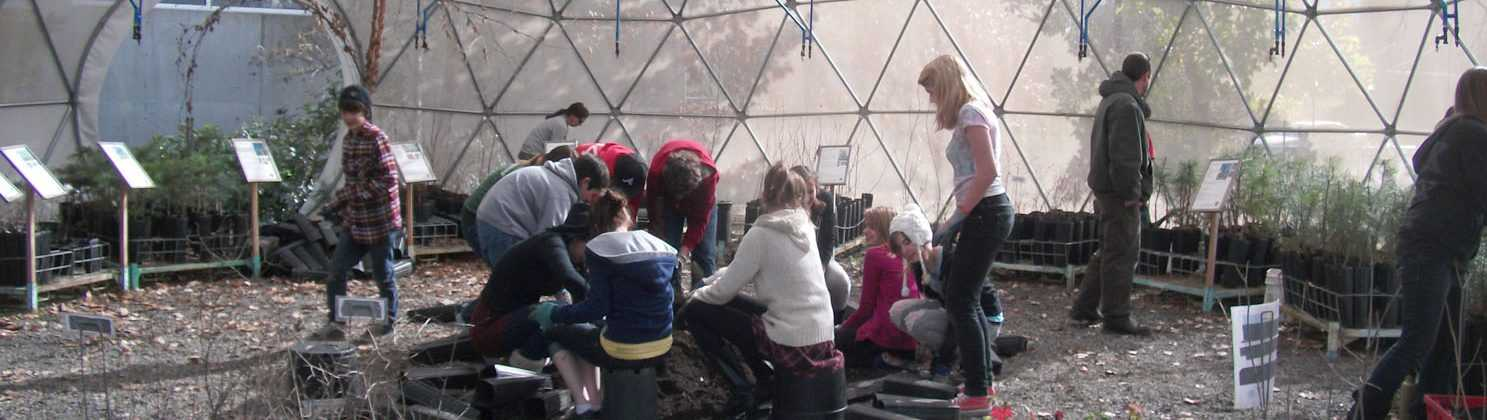 Education in Greenhouse Dome - Pacific Domes